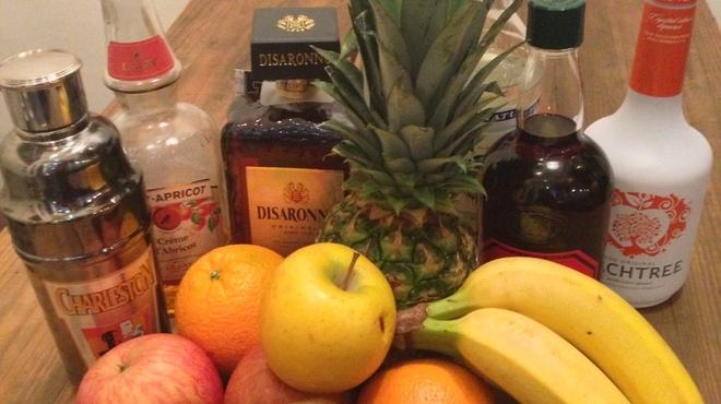 カフェアンドバーアール - 料理写真:自家製サングリア。たくさんのフルーツをワインとリキュールでつけています^^