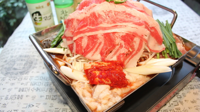 チョンケグリ - 料理写真:ちりとり鍋  大阪コリアンタウン発祥の韓国風すき焼き鍋  浦安では当店でしか味わえない!