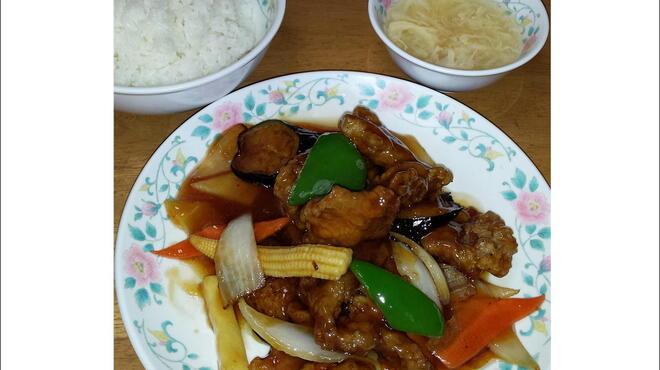 十八番 - 料理写真:10番 酢豚定食 680円
