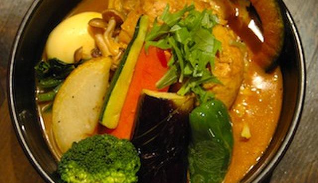 奥芝商店 - 料理写真:当店自慢の味「エビスープカリー」エビの旨味がギュッと詰まっています。