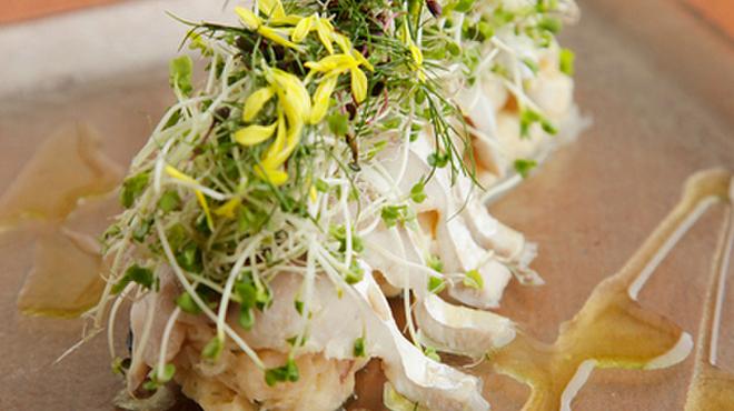 ジュメルニジュウク - 料理写真:『真鯖のマリネのスモーク メークインのポテトサラダ』