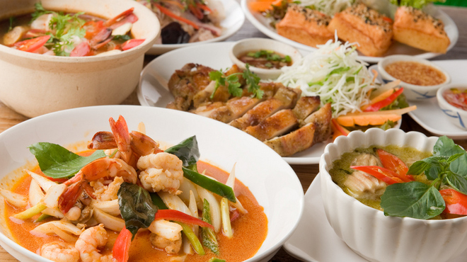 バンコック ポニー食堂 - 料理写真:タイ料理の定番ばかりを贅沢に楽しめるお得なコース