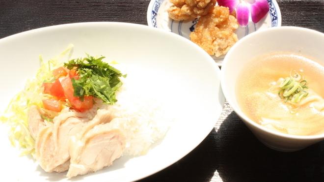 お粥家 粥 粥 - 料理写真:海南鶏飯セット