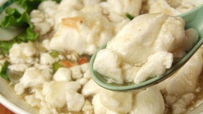 精陽軒 - 料理写真:人気のアスパラ蟹卵白ふんわり炒めです。