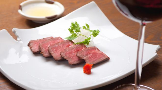 根っこや - 料理写真:島根県産和牛のローストビーフ