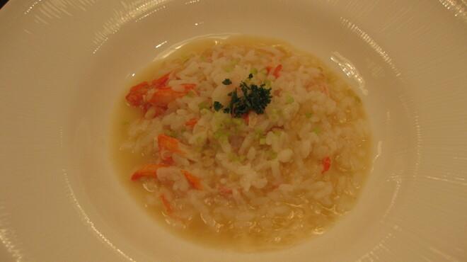 カミノハナ - 料理写真:玄米と蟹肉のリゾット仕立て