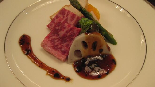 カミノハナ - 料理写真:黒毛和牛と季節野菜のトウチ炒め