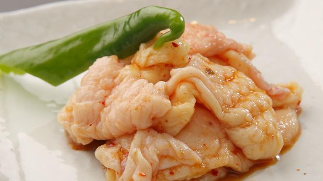 とり焼 かん美 - 料理写真:希少部位 皮ホルモンのタレ漬け