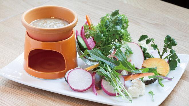 ぷらっトリア - 料理写真:彩り野菜のバーニャカウダー