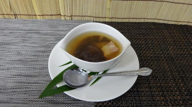 食彩工房 そばの華 - 料理写真:3月の献立、干し椎茸とベーコンスープ