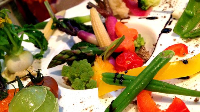 パプリカ食堂ヴィーガン - 料理写真:スチーム野菜、自家製ベジバーニャカウダーソース