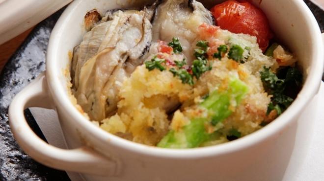 露地もん - 料理写真:牡蠣のガーリックバター焼き