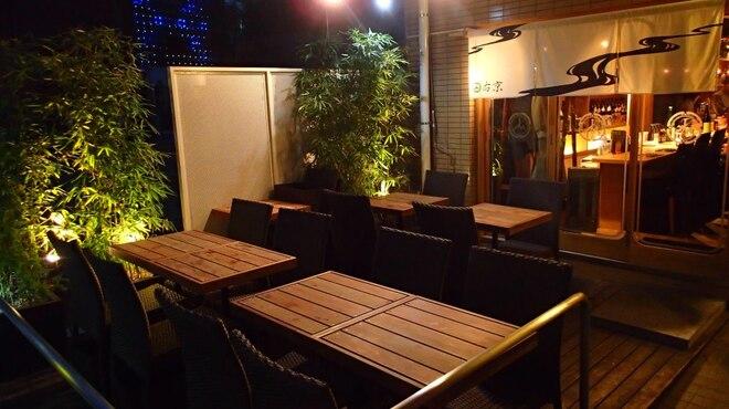 十番右京 - 内観写真:テント付きのテラスは12席