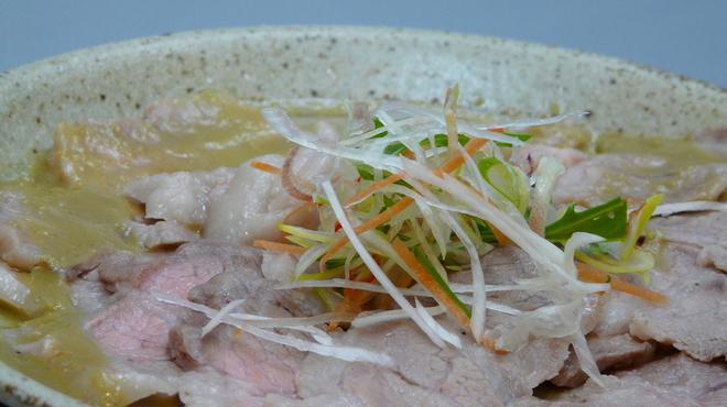 mus - 料理写真:蒸し豚わさび
