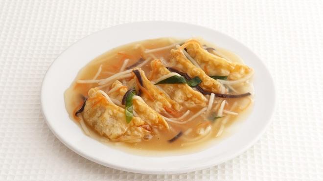 焼賣太樓 - 料理写真:揚げ餃子のあんかけ
