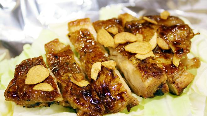 お好み焼き 徳川 総本店 - 料理写真:チキンのガーリック焼