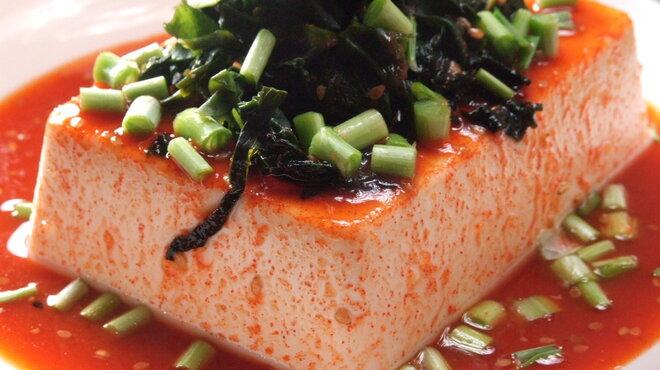 韓国食堂 ジョッパルゲ - 料理写真:韓国式まるごと一丁冷やっこ 280円