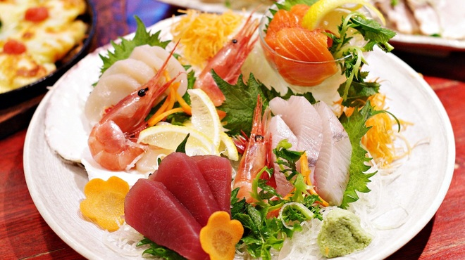 居酒屋北菜 - 料理写真:刺し盛り5点盛り