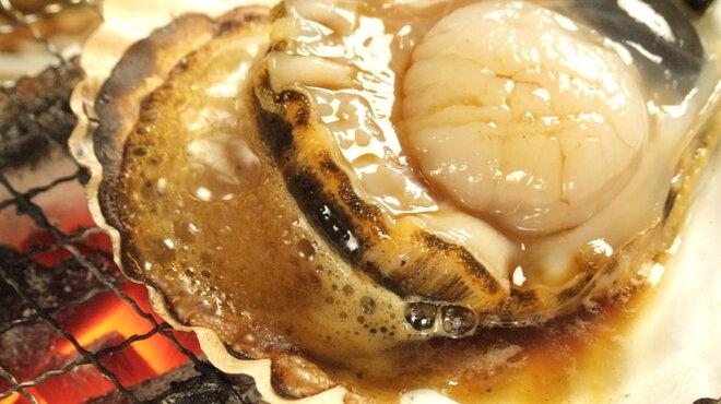 嬉らく人岡場笑店 - 料理写真:ほたての浜焼き