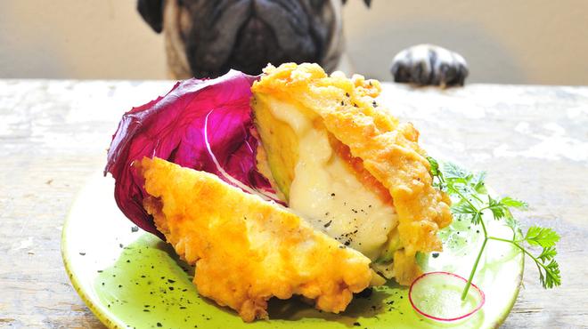 マドッシュ!カフェ - 料理写真: アボカドとモッツアレラチーズのフライ