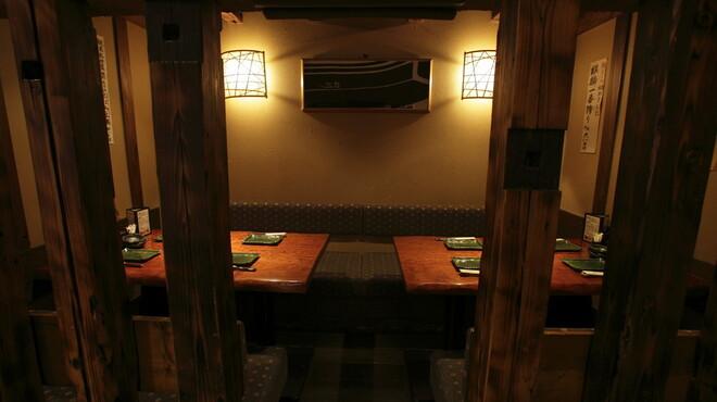 炙屋 十兵衛 - 内観写真:カウンター後ろのボックス席 6~8名様で貸切になります。勿論2名様~ご利用出来ます。