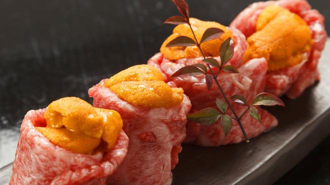 さるとび - 料理写真:宮崎牛のうに巻