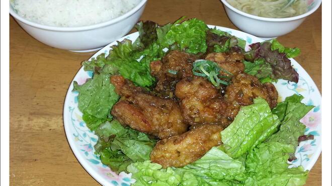 十八番 - 料理写真:22番  油淋鶏定食     680円