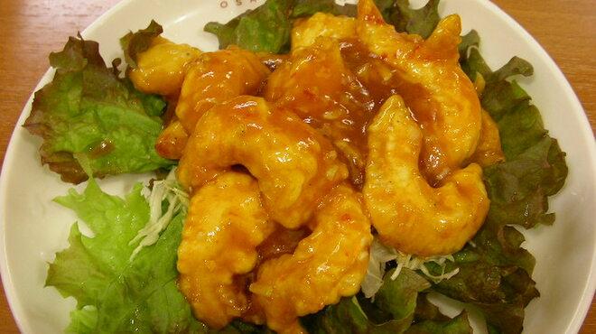 大阪王将 - 料理写真:海老のチリソース ほどよい辛さです。