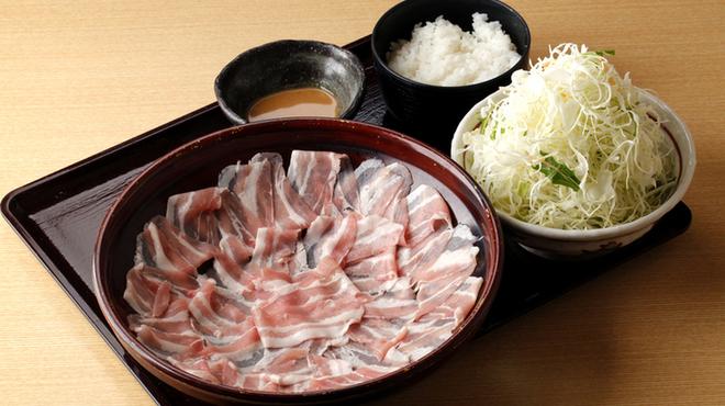 もち豚しゃぶしゃぶ - 料理写真:ランチ もち豚しゃぶしゃぶ定食