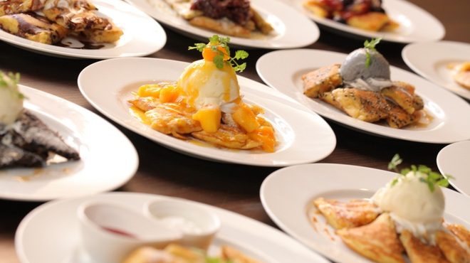 cafe maru - 料理写真:パンケーキの種類は17種類!