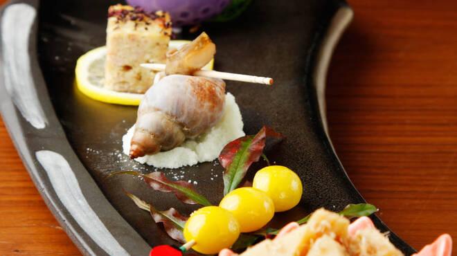 澄仙 - 料理写真:おまかせコースの前菜5点盛り(内容季節によって変更有)