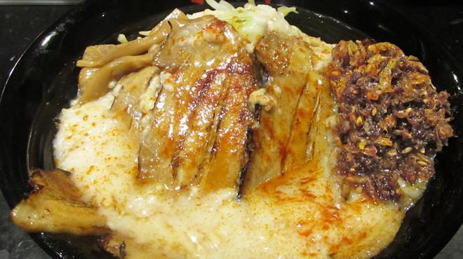 油そば春日亭 - 料理写真:炙り海老辛ジャン油そば