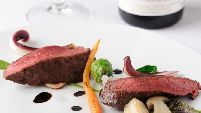 TN - 料理写真:『尾崎牛の炭火ロースト バルサミコのリストレットと焼き野菜』