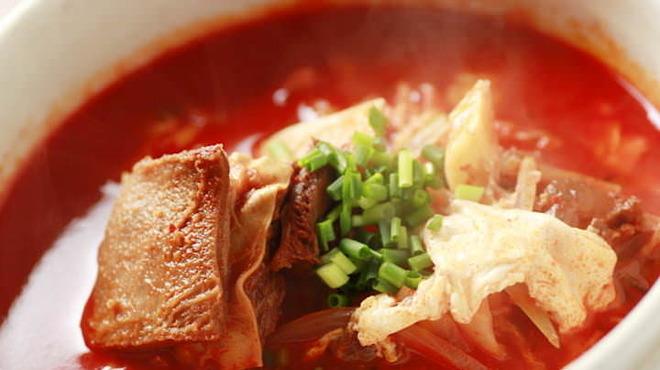ホルモン市場 - 料理写真:スープ各種
