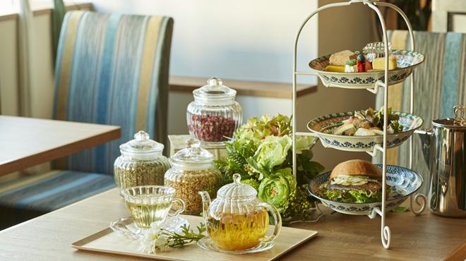 銀座カフェビストロ 森のテーブル - 内観写真:窓際のテーブル席は落ち着いた癒しの空間