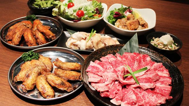 てば壱 - 料理写真:焼肉手羽先宴会コース