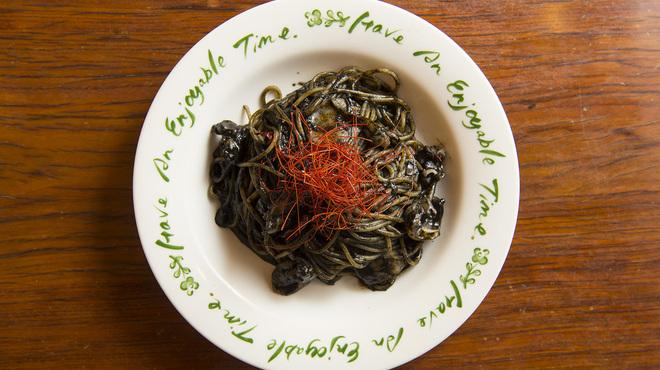 パスタmama - 料理写真:いか墨のスパゲッティ