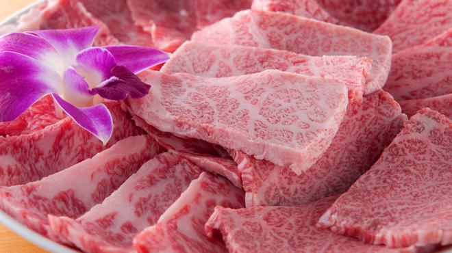 俺の焼肉 - 料理写真:特選 黒毛和牛7種類盛(350g)はプロのバイヤーが厳選したA-5ランク『黒毛和牛』から、おすすめの7種類を盛合せました。