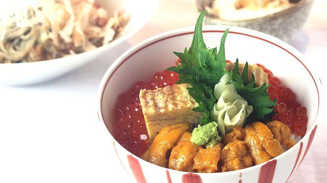 越前蟹の坊 - 料理写真:おろし蕎麦と雲丹いくら丼(小)の膳