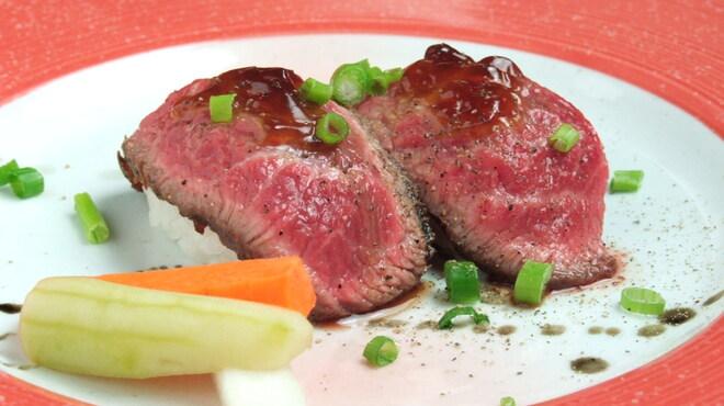 田町 大人のハンバーグ - 料理写真:お口の中で完成する黒毛和牛のお寿司