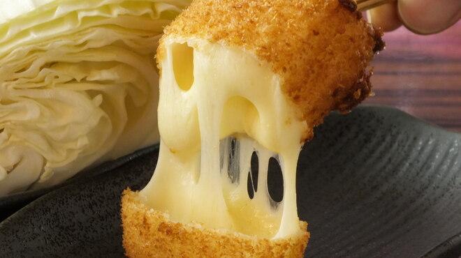串カツ さくら - 料理写真:とろ~り、モッツァレラチーズ