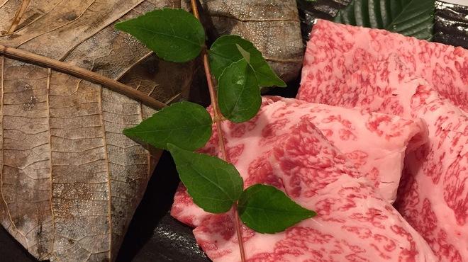 澤の - 料理写真:朴葉焼きと牛の薄切り焼き