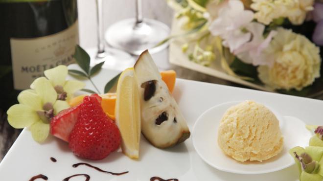 花山椒 - 料理写真:記念日にはメッセージを添えてお席を華やかに彩ります。