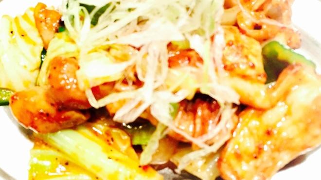 寿や - 料理写真:ホルモン辛味噌炒め