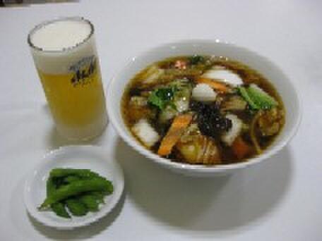 天鳳 - 料理写真:お得な樽生ビールセット(各ラーメン類に400円追加)