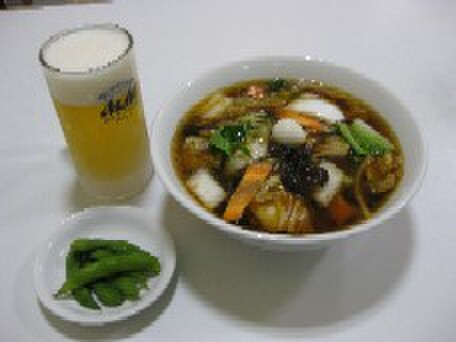 空港ラーメン 天鳳 - 料理写真:お得な樽生ビールセット(各ラーメン類に400円追加)