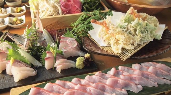 魚や 六蔵 - 料理写真:【下田産金目鯛しゃぶしゃぶコース4,500円】