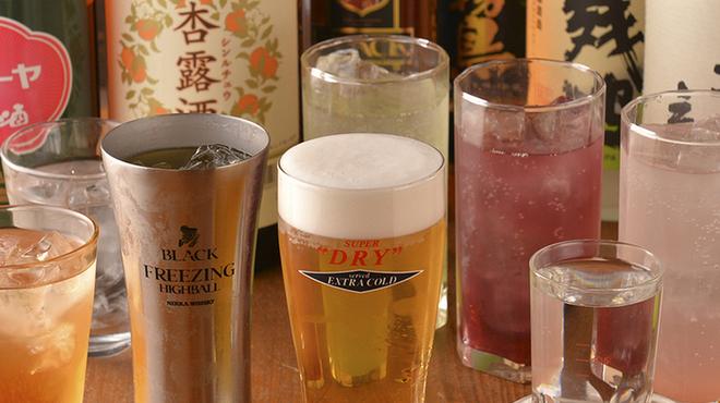 地鶏酒肴庵 ハナタレ - ドリンク写真:飲み放題は種類多数。