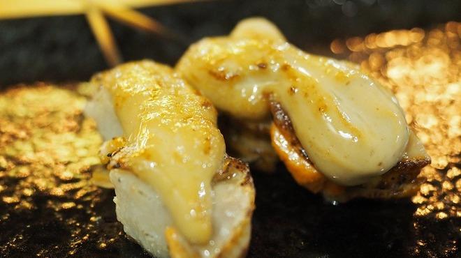 くつろぎ鉄板酔縁 - 料理写真:帆立の蟹味噌焼き