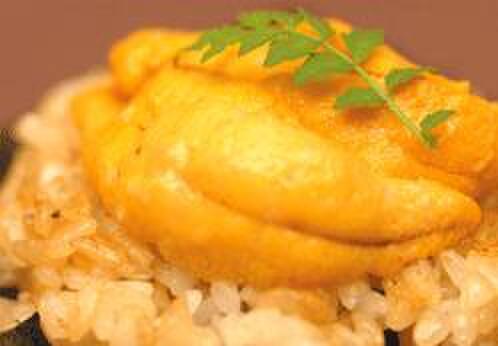 バンブー グラッシィ - 料理写真:生雲丹と焼き飯